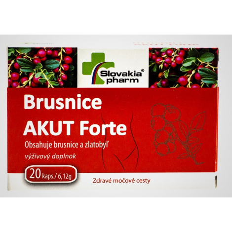 Slovakiapharm Brusnice AKUT Forte 20 cps