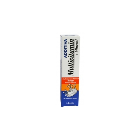 Additiva Multivitamin + Mineral Orange šumivé tablety 20 tbl - Naturprodukt, spol. s.r.o.