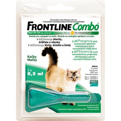 FRONTLINE COMBO Spot pe mačky 1x0,5 ml - Merial