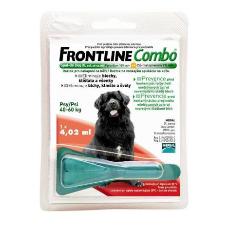 FRONTLINE COMBO Spot pre psy L 40-60 kg - Merial