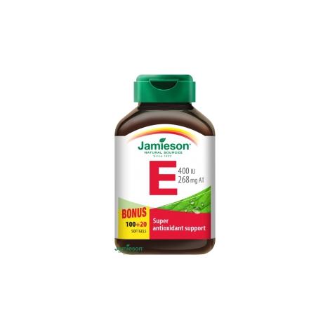 Jamieson Vitamín E 400 IU 100 + 20 cps ZDARMA