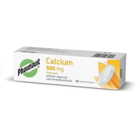 Walmark Calcium 500 mg Pharmavit 20 šumivých tabliet