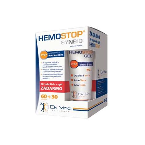 HEMOSTOP SYNBIO 60+30 tbl + HEMOSTOP GÉL MAX 75ml ZDARMA