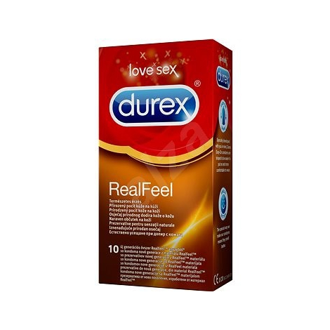 Durex RealFeel kondómy 10 ks - Reckitt Benckiser