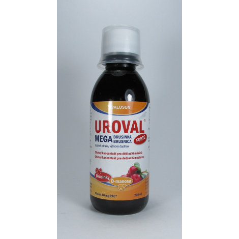 UROVAL Megabrusnica FORTE sirup 200 ml