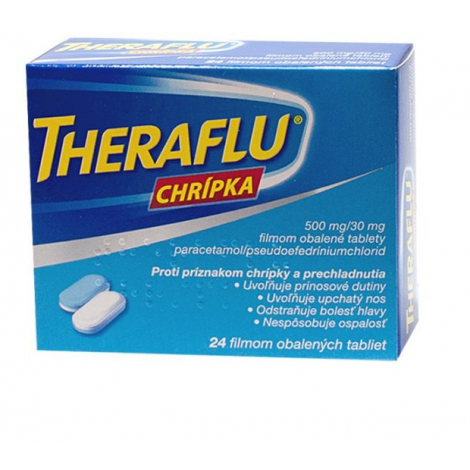 Theraflu chrípka 24 tbl - Glaxo Smith Kline