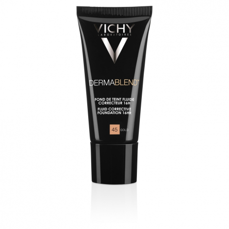 Vichy DERMABLEND Korekčný fluidný make-up SPF 35 odtieň 45 Gold 30 ml