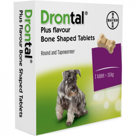 Drontal Dog Flavour 150/144/50mg 2 tablety - Bayer