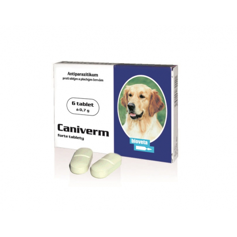 Caniverm forte tablety 700 mg 6 tabliet