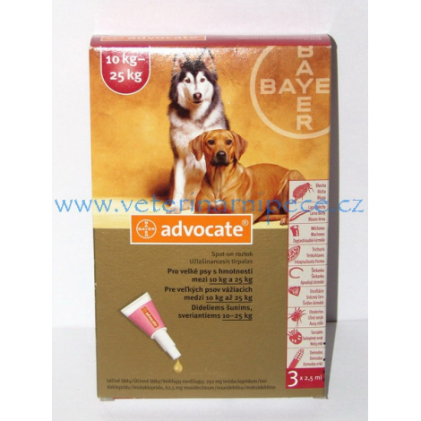 Advocate Spot on pre psy 10-25 kg 3x2,5 ml