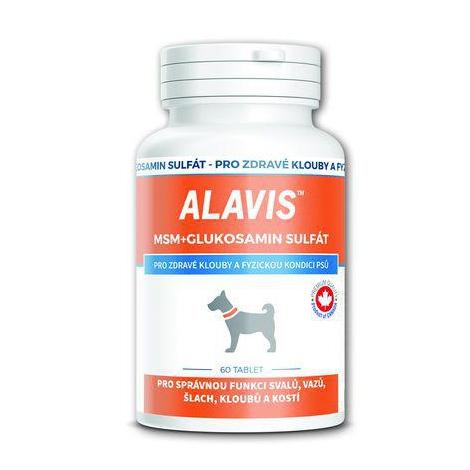 Alavis MSM + glukosamín sulfát pre psov 60 tabliet - Fortius Canada Inc.