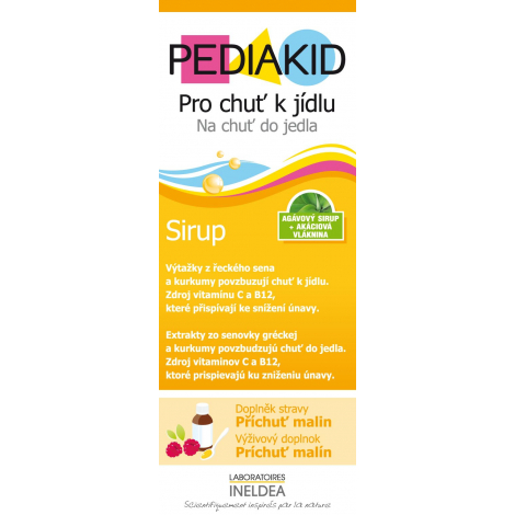 Pediakid Na chuť do jedla sirup 125 ml -  SWISS PHARMA spol.s.r.o.