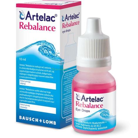 Artelac Rebalance očné kvapky 10 ml - Valeant
