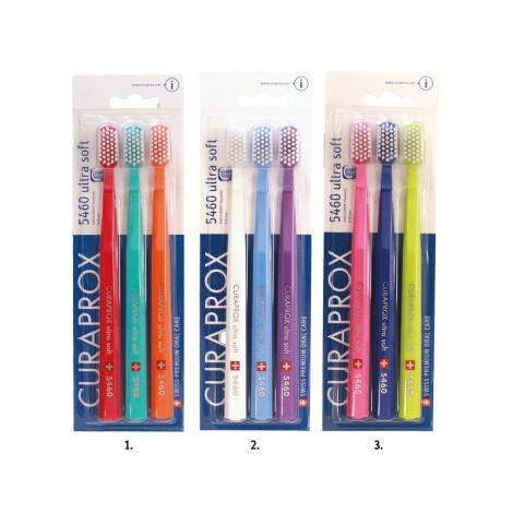 Curaprox ultra soft 5460 zubná kefka trojbalenie 3 x 1 ks - Curaprox