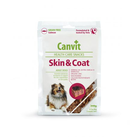 Canvit health care snack Skin and Coat 200 g - Canvit s.r.o.