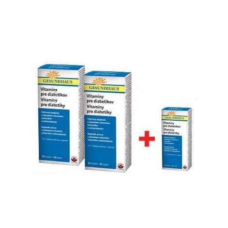 Vitamíny pre diabetikov 2 x 30 tbl + 30 tbl za 0,01€ - Wörwag Pharma