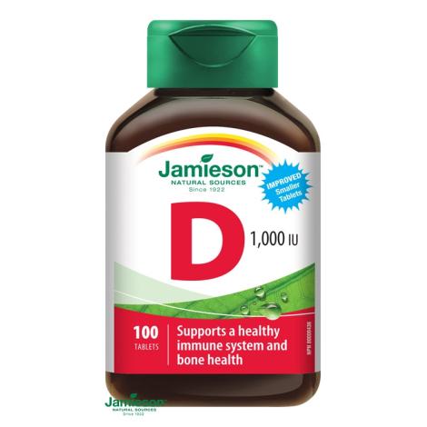 Jamieson Vitamín D3 1000 IU 100 tbl