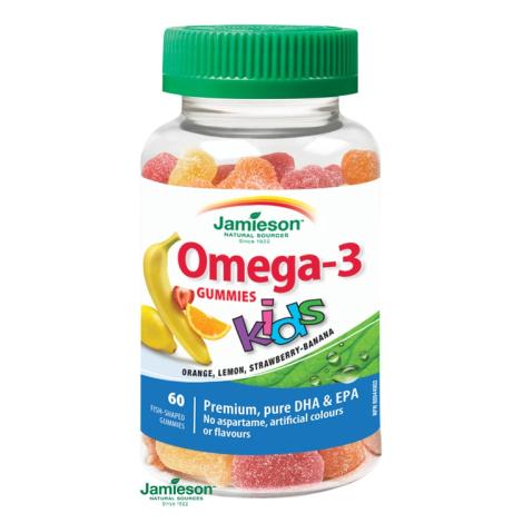Jamieson Omega-3 Kids Gummies želatínové pastilky 60 past