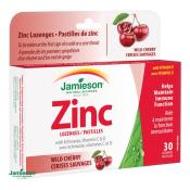 Jamieson Zinok s echinaceou a vitamínmi C a D3 pastilky s príchuťou višne 30 past