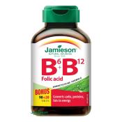 Jamieson Vitamín B6, B12 a kyselina listová 90 + 20 tbl ZDARMA