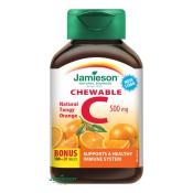 Jamieson Vitamín C 500 mg tablety na cmúľanie s príchuťou pomaranča 100 + 20 tbl ZDARMA