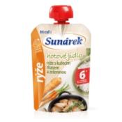 Sunárek hotové jedlo ryža s kuracím mäsom a zeleninou od ukonč. 6. mesiaca 120 g
