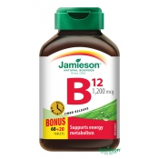 Jamieson Vitamín B12 metylkobalamín s postupným uvoľňovaním 80TBL