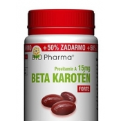 Bio Pharma Beta karotén forte 15 mg 100+50 cps
