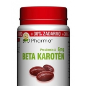 Bio Pharma Beta karotén 6 mg 100+30 cps