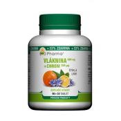 Bio Pharma Vláknina 600 mg + Chróm 200 µg 90 + 30 tbl