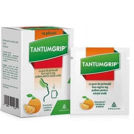 Tantumgrip s citrónovou príchuťou 600 mg/10 mg 10 vreciek