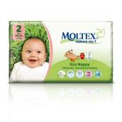 Moltex 2 detské prírodné plienky Mini 3-6 kg 42 ks