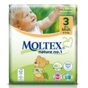 Moltex 3 detské prírodné plienky veľ. 3 Midi 4-9 kg 33 ks