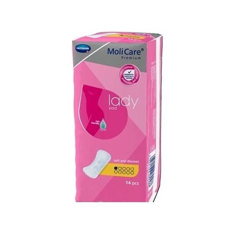 MoliCare Premium lady 1 kvapka inkontinenčné vložky 14 ks