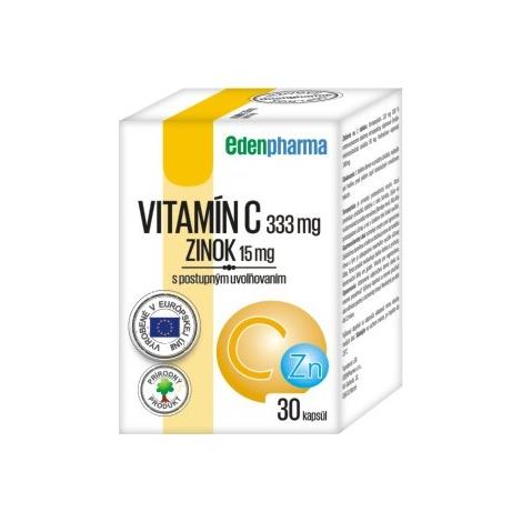 Edenpharma VITAMÍN C + ZINOK s postupným uvoľňovaním 1x30 cps