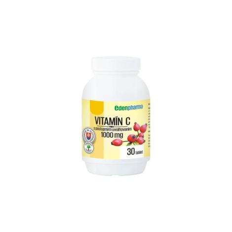 Edenpharma Vitamín C 1000 mg s postupným uvoľňovaním so šípkovým extraktom 30 tbl