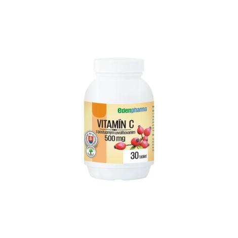 Edenpharma Vitamín C 500 mg s postupným uvoľňovaním so šípkovým extraktom 30 tbl