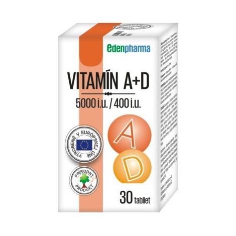 Edenpharma VITAMÍN A + D 5000 I.U./ 400 I.U. 30 tbl