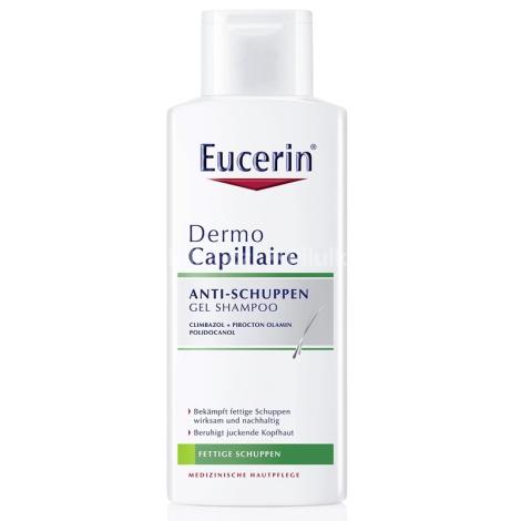 Eucerin Dermo Capillaire gélový šampón proti mastným lupinám