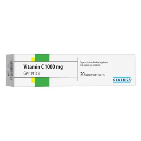 Generica Vitamín C 1000mg šumivé tablety 20 tbl
