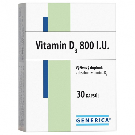 Generica Vitamin D3 800 I.U. 30 cps