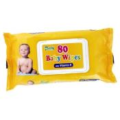 HYGIENICKÉ UTIERKY BABY WIPES S VITAMÍNOM E vlhčené obrúsky 80 ks
