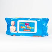 HYGIENICKÉ UTIERKY BABY WIPES S ALOE VERA vlhčené obrúsky 80 ks