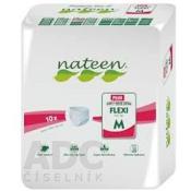 nateen FLEXI PLUS M nohavičky plienkové, obvod bokov 90-130 cm, savosť 2150 ml, 1x10 ks