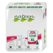 nateen COMBI PLUS XL plienky inkontinenčné, obvod bokov 130-175 cm, savosť 3400 ml, 1x10 ks