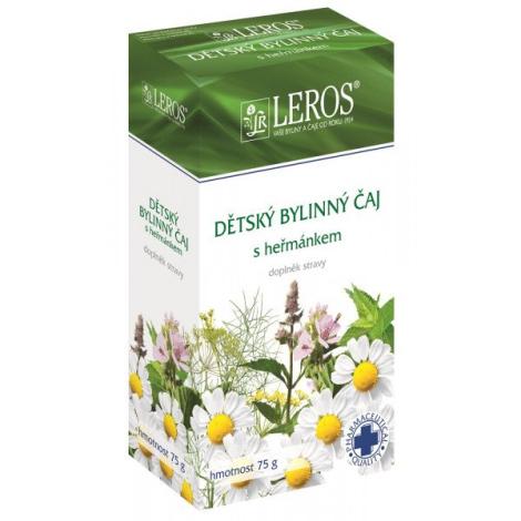 LEROS Detský bylinný čaj s rumančekom sypaný 75g