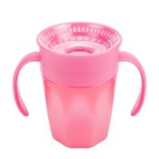 Dr.BROWN´S HRNČEK CHEERS 200 ml 6M+, ružový, 360°, s držadlami 1 ks