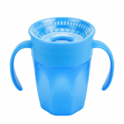 Dr.BROWN´S HRNČEK CHEERS 200 ml 6M+, modrý, 360°, s držadlami 1 ks