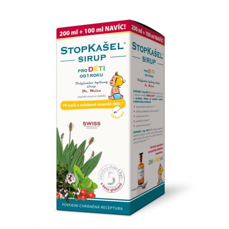STOPKAŠEL sirup pre deti Dr Weiss 200 + 100 ml