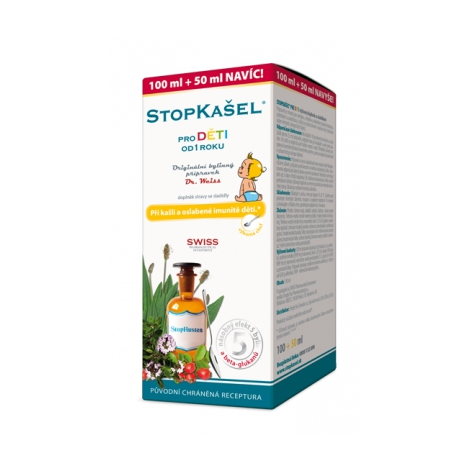 STOPKAŠEL sirup pre deti Dr Weiss 100 + 50 ml